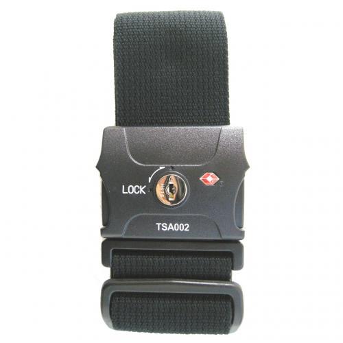 キーロック式のTSAロック付きスーツケースベルト