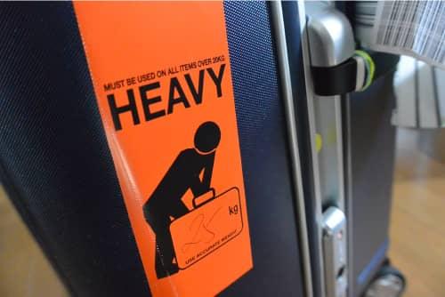 受託手荷物重量制限対策