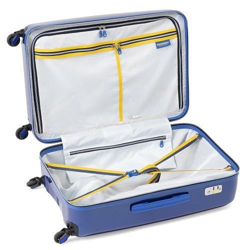 スーツケースの内装ポケットや間仕切り