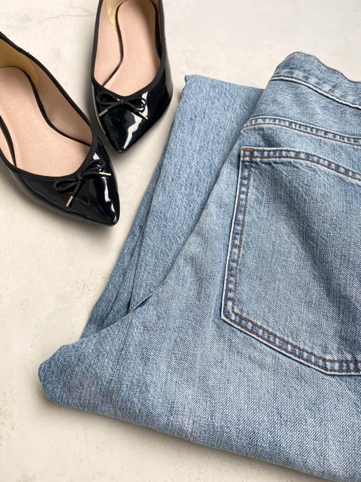 靴とジーンズ