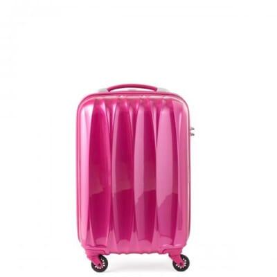 ショッキングピンクのスーツケース