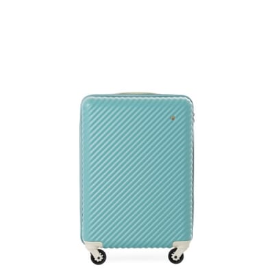マットな水色のスーツケース