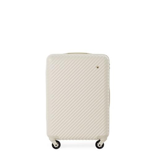 マットなオフホワイトのスーツケース