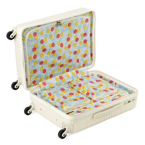 内装生地がデザインされたスーツケース