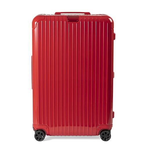 光沢のある鏡面加工のスーツケース