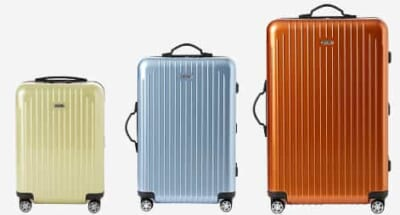 黄緑・水色・オレンジなどカラフルなスーツケース