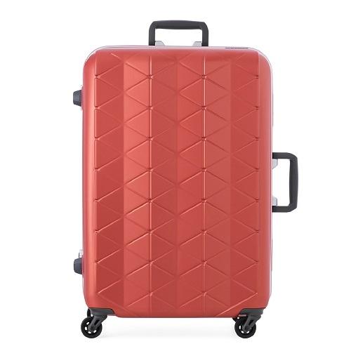 マットなエンボス加工のスーツケース