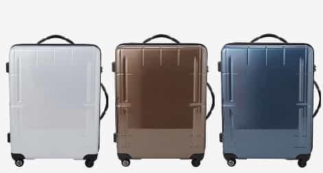 白・茶色・ネイビーなど落ち着いたカラーのスーツケース
