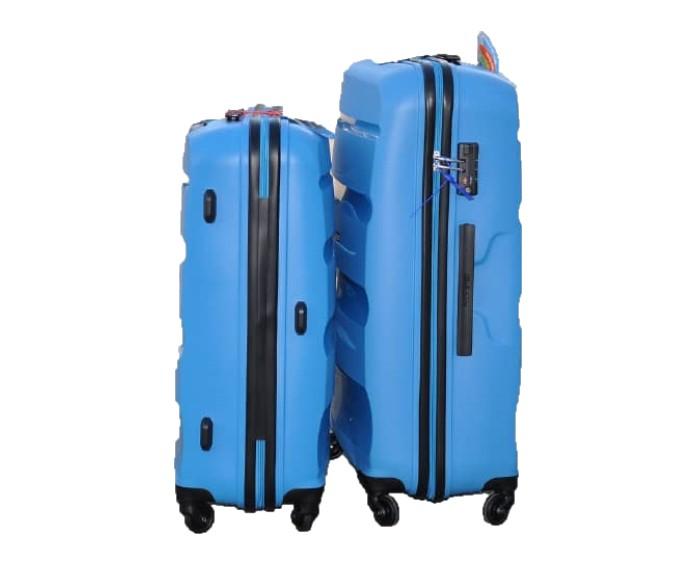 青いABS樹脂素材のスーツケース