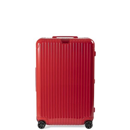 ハードタイプの赤いスーツケース