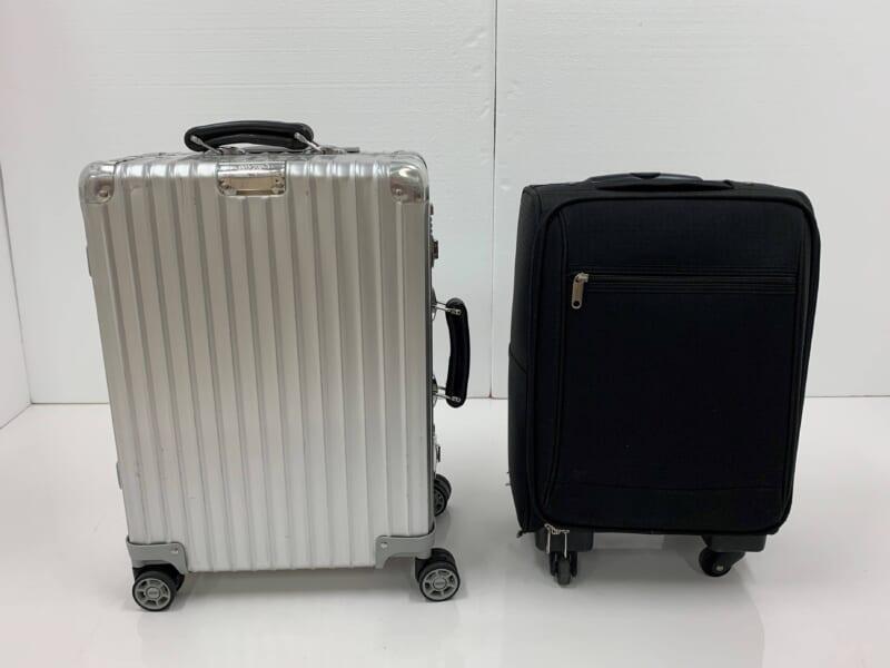 検証1で使用したスーツケース(リモワ クラシックフライトとノーブランド)