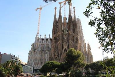 建設中のスペインのサグラダファミリア